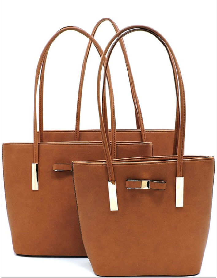 Brown Small Bow Tote