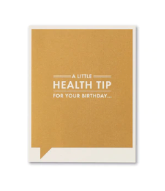 Frank & Funny Cards - HEALTH TIP