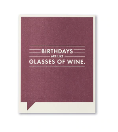 Frank & Funny Cards - GLASSES OF WINE