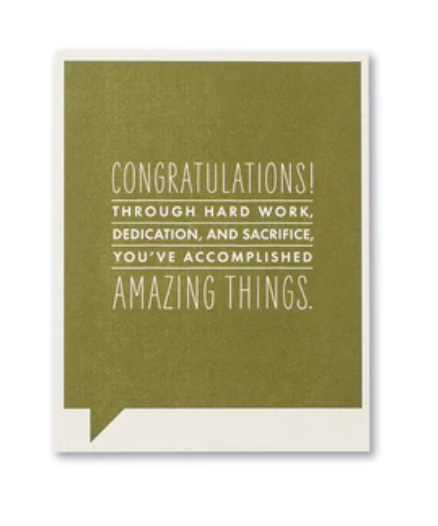Frank & Funny Cards - CONGRATULATIONS AMAZING THINGS