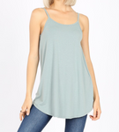 Light Mint Spaghetti Strap Loose Tank- Reversible