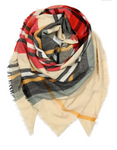 Tan/Red/Green Blanket Scarf