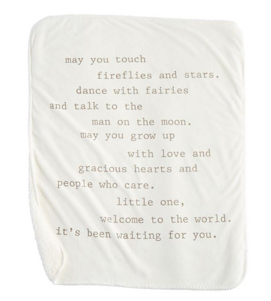 May You Touch Fireflies Sherpa Blanket
