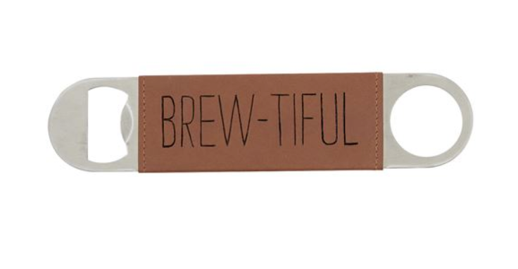 BREW-TIFUL Leather Wrapped Bottle Opener