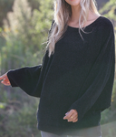 Black Loose Fit Dolman Sweater