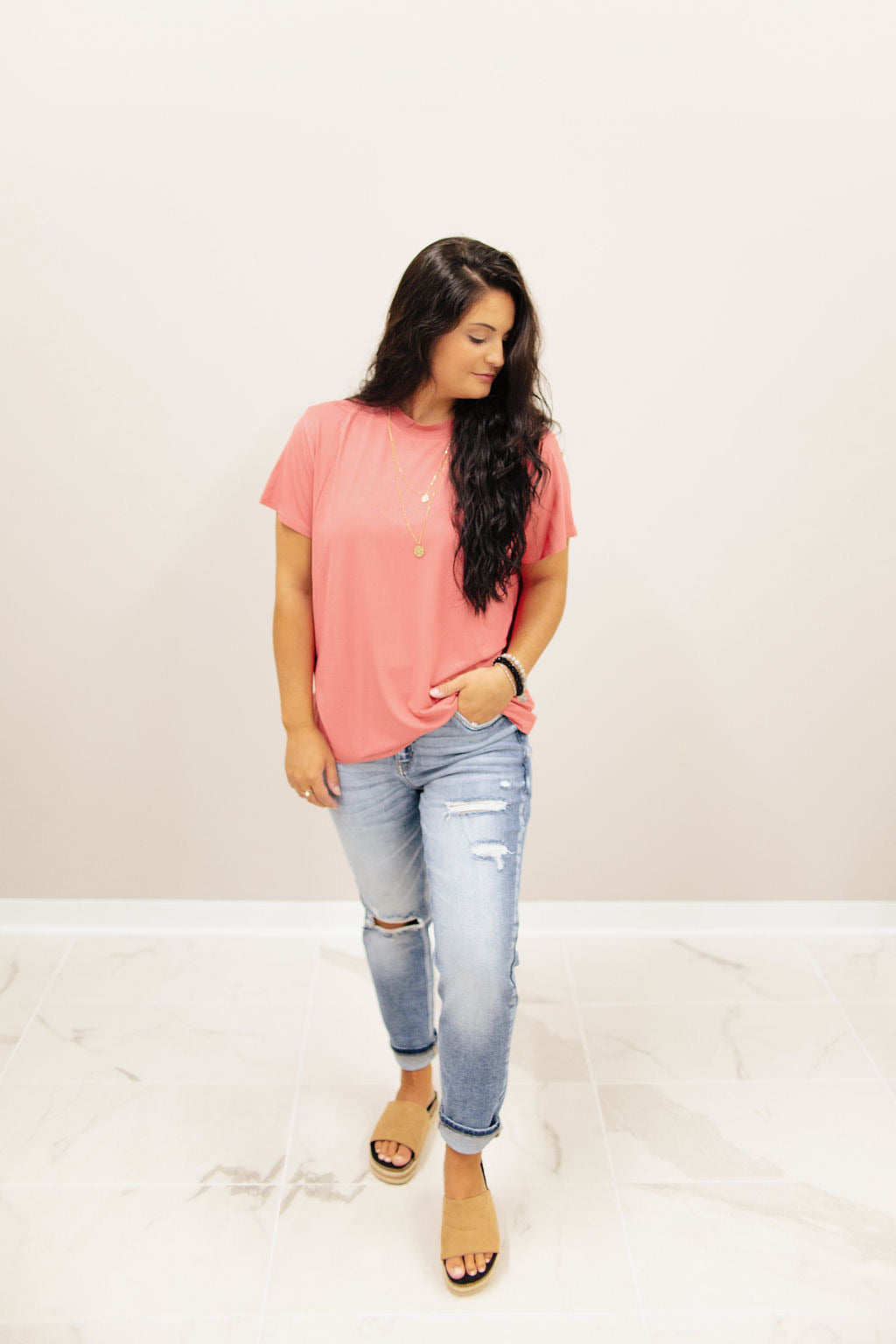 Cherry Boyfriend Fit Tee