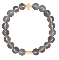 Charged Bracelet Grey Agate