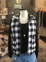 Black and White Checkered Vest