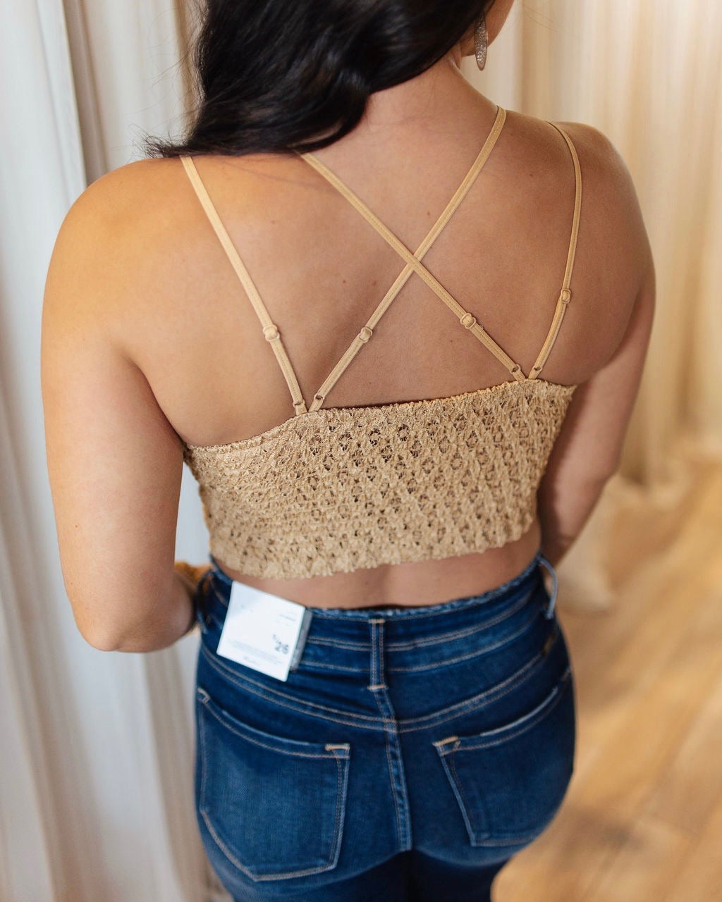 Tan Crochet Lace Bralette