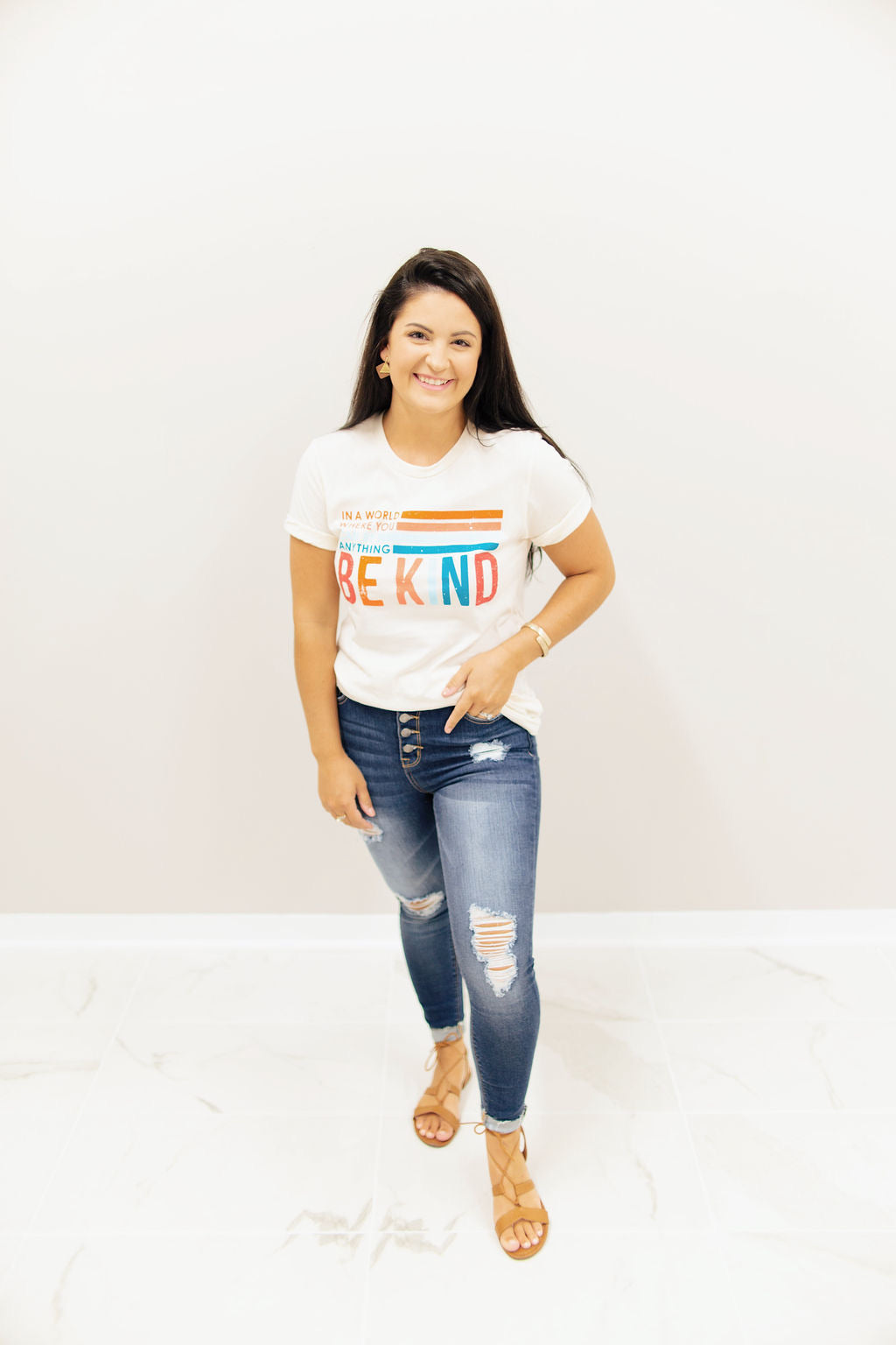 Cream Be Kind Graphic T-Shirt