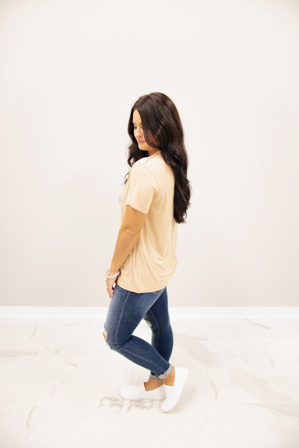 Tan Boyfriend Fit Tee