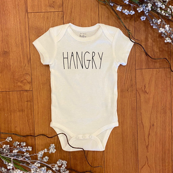 White Hangry SS Onesie