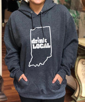 """Drink Local"" - Charcoal - Give by Grace- Sweatshirt Hoodie"