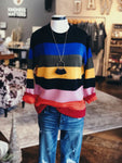 Multi Colored Striped LS Sweater