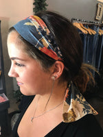 Blue-ish Grey Floral- Give by Grace Headband
