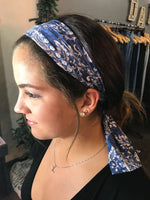 Blue Paisley- Give by Grace Headband