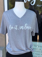 """Do it.In Love"" Heather Grey - Give by Grace - Tee Shirt"