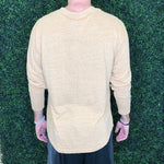 Men's Mustard Henley Long Sleeve