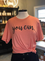 """You Can"" Peach Sorbet- Give by Grace - Tee Shirt"