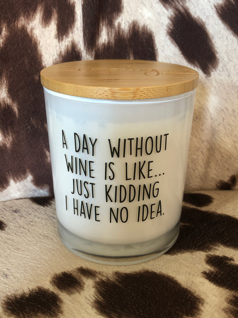 A Day Without Wine... - Unplug - Pumpkin Spice Latte