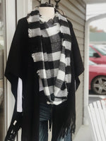 Black and White Checkered Infinity Scarf