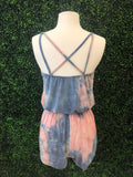 Blue and Pink Tie Dye Romper