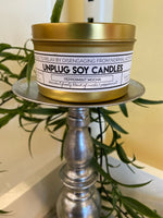 7 oz. Tin Candle - Unplug - Balsam Cedar