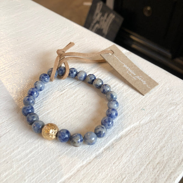 Give by Grace Shiny Beaded Bracelet- Navy