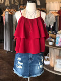Garnet Layered Cami Top