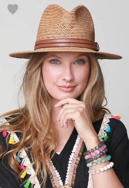 Light Brown Panama Sun Hat