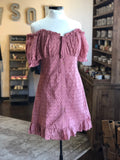 Mauve OTS Eyelet Dress