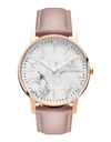 McCoy Road Watch - Pink Leather Band with White Marble Face