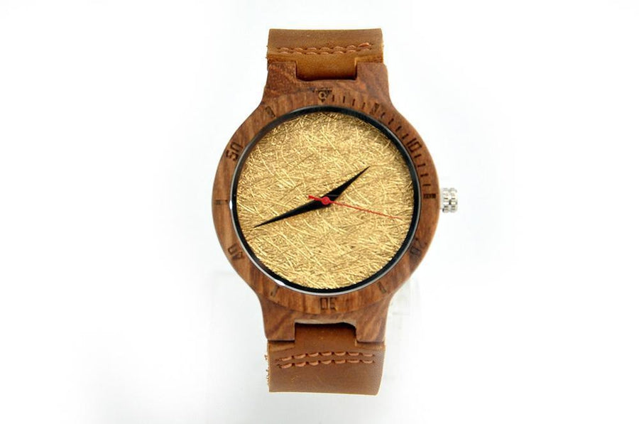 Ρολόι Wood fort Brown and Gold-Seven-flexshopgr