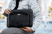 TWINPACK BLACK-TEXTURED BLACK MEDIUM LAPTOP