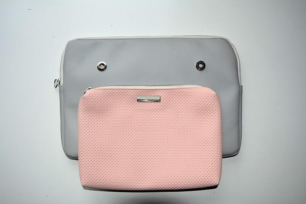 TWINPACK GRAY-PINK LARGE LAPTOP