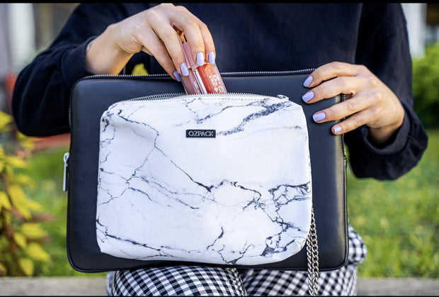 TWINPACK BLACK-MARBLE WHİTE MEDIUM LAPTOP