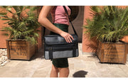 TRAVELER BLACK LARGE LAPTOP BAG