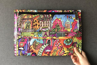 Ozpack Brain Street Laptop Sleeve Front