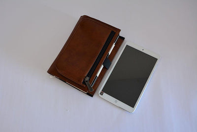 Ozpack Business Dark Brown Mini Tablet Sleeve Front