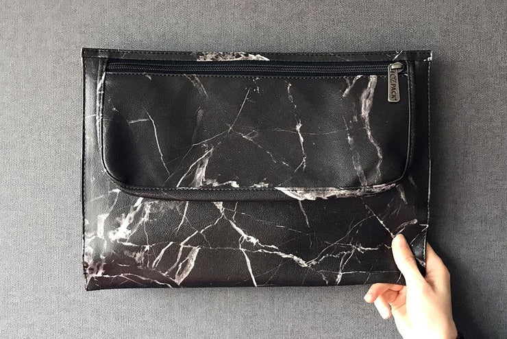 Ozpack Marble Black Orta Boy Laptop Ön