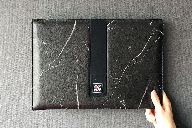 Ozpack Marble Black Orta Boy Laptop Arka