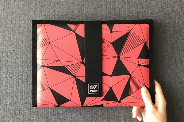 Ozpack Cubic Red Tablet Sleeve Back