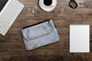 Ozpack Executive Marble White Medium Laptop Bag Front