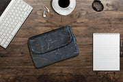 Ozpack Executive Marble Black Medium Laptop Front
