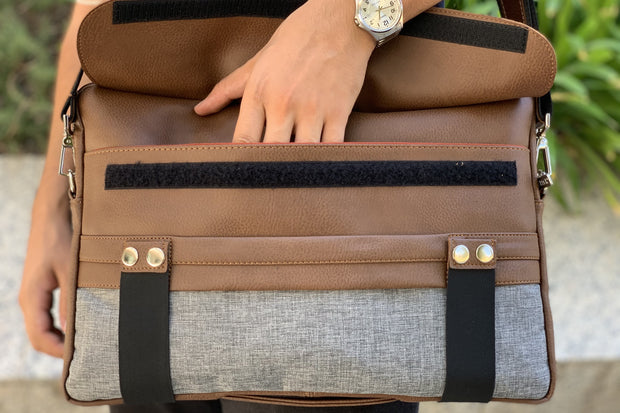 TRAVELER DARK BROWN LARGE LAPTOP BAG