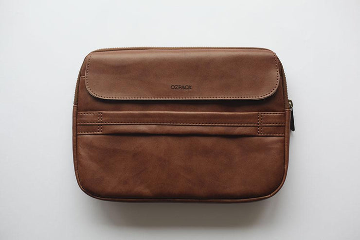 Ozpack Executive Dark Brown Tablet Bag Back