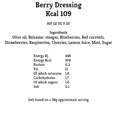 Berry Dressing