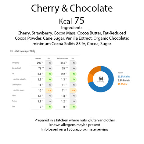 Cherry & Organic Chocolate pot