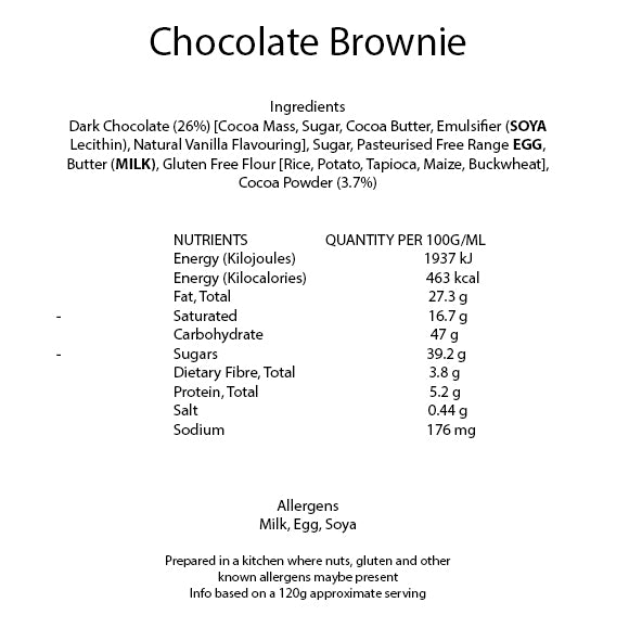 Welcome Gluten Free Chocolate Brownie