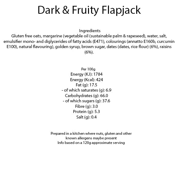 Dark and Fruity Flapjack